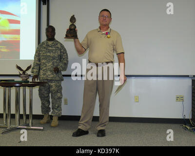 U.S. Army Chief Warrant Officer 5 Joseph D. Johnson retired from the South Carolina Army National Guard in a ceremony - Stock Photo