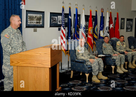 U.S. Army Lt. Col Marion R. Collins, Commander, South Carolina Army National Guard's 2nd Battalion, 263rd Air Defense - Stock Photo