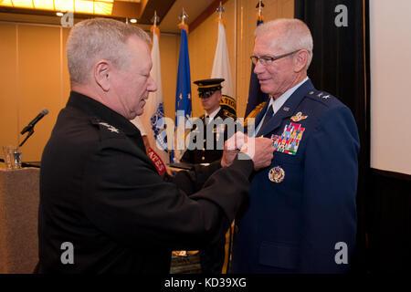 U.S. Air Force Maj. Gen. (ret.) Barry K. Coln, former Director of Logistics, J-4 for the National Guard Bureau, - Stock Photo