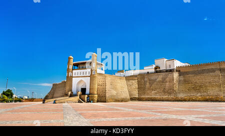 View of the Ark fortress in Bukhara, Uzbekistan - Stock Photo