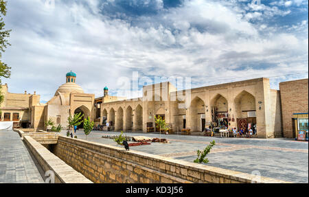 Ancient buildings in the old town of Bukhara, Uzbekistan - Stock Photo