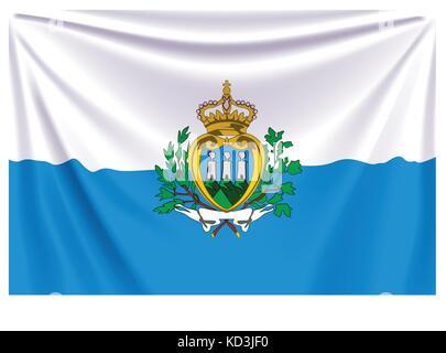 back flag san marino - Stock Photo