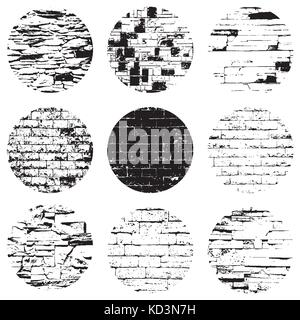 Circular Brick Textures - Stock Photo