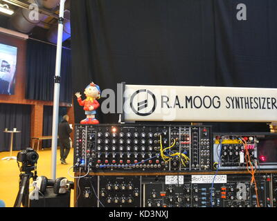A Moog modular synthesizer (and Noddy) on display at Synthfest,  The Octagon Centre, University of Sheffield (part - Stock Photo