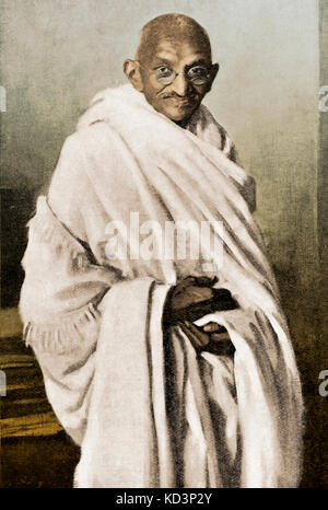 Mahatma Mohandas Karamchand Gandhi - the Indian religious ruler and politician. 2 October 1869 – 30 January 1948. After a painting by Oswald Birley