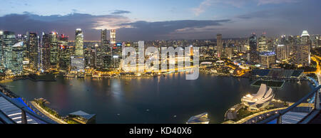Skyline,  Marina Bay, Singapore, Singapur, Southeast Asia, - Stock Photo