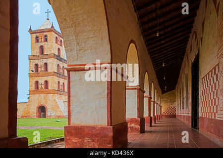 The Jesuit Mission church of San José de Chiquitos, Chiquitos Province, Santa Cruz, Bolivia - Stock Photo