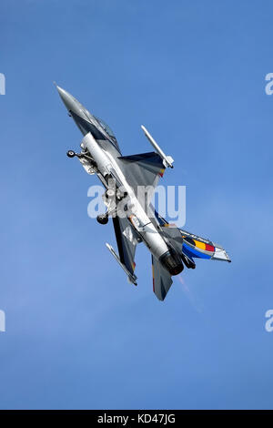 General Dynamics F-16A MLU Fighting Falcon, 350 Squadron, Belgian Air Component, Florennes, at the 2014 Royal International - Stock Photo