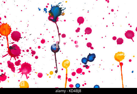Colorful Paint Splashes On White Plus EPS10 Vector File Stock