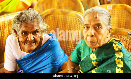 Senior Caucasian Woman Cheerful Portrait Concept. - Stock Photo
