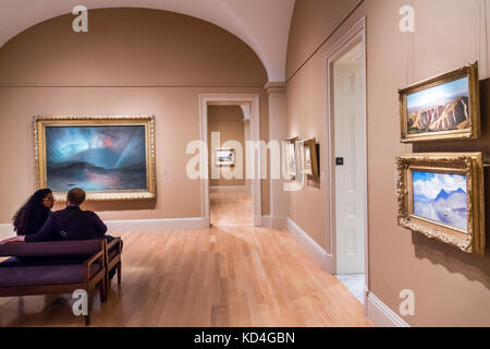 Washington DC District of Columbia American Art Museum painting Aurora Borealis Frederic Edwin Church landscape - Stock Photo