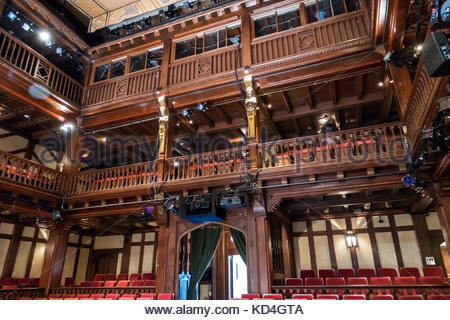 Washington DC District of Columbia Folger Shakespeare Library research library Elizabethan Theatre interior inside - Stock Photo