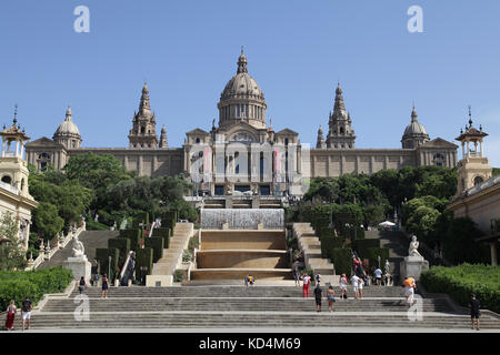 Museu Nacional d'Art de Catalunya National Art Museum of Catalonia MNAC Plaza de España Barcelona Catalunia Spain - Stock Photo