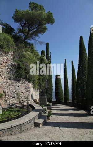 Els Degotalls walking path at Montserrat mountain near Barcelona Catalunia Spain