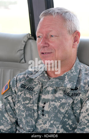 U.S. Army Gen. Frank J. Grass, Chief, National Guard Bureau and member of the Joint Chiefs of Staff, visits S.C. - Stock Photo