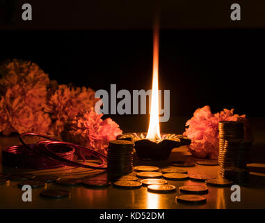 Happy Diwali Wishes and greetings. - Stock Photo