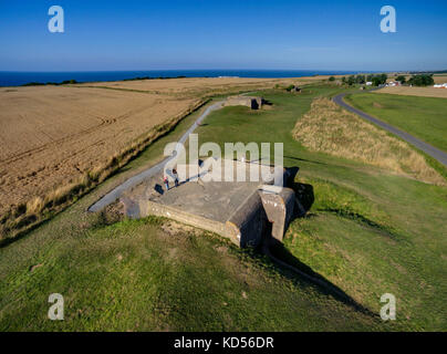 Creances (Normandy, north-western France): the former German battery dating back to WWII (not available for postcard - Stock Photo