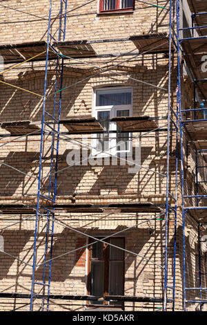 Scaffold in the building - Stock Photo