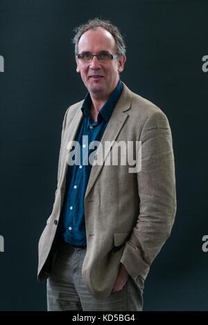 Volker Kutscher attends a photocall during the Edinburgh International Book Festival on August 12, 2017 in Edinburgh, - Stock Photo