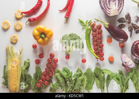 different fresh vegetables - Stock Photo