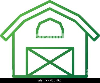 Barn Icon Agriculture Farm House Building Graphic Stock Photo