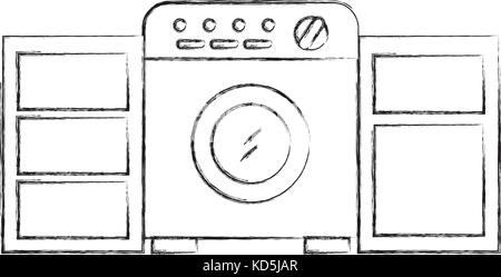Laundry Room With Washing Machine Wardrobe Furniture