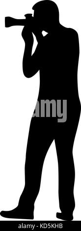 photographer silhouette vector stock photo