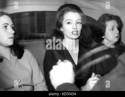 Photo Must Be Credited ©Alpha Press 050000 03/10/1963 The Profumo Affair. Christine Keeler appeared at Marylebone - Stock Photo