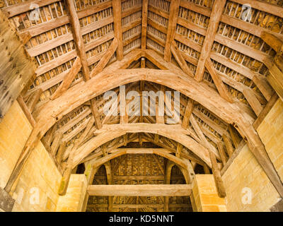7 July 2017: Bradford on Avon, Somerset, England, UK - The Tithe Barn, built in the early 14th century as part of - Stock Photo