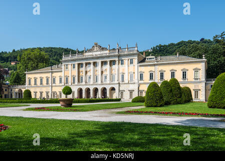 Como, Italy - May 27, 2016: View of Villa Olmo in the lakefront of Como City, Italy. - Stock Photo