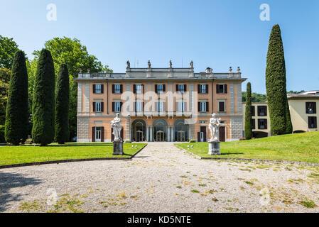 Como, Italy - May 27, 2016: View of Villa Gallia in the lakefront of Como City, Italy. - Stock Photo