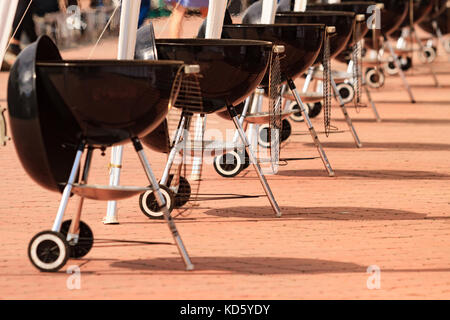 Picture of the kettle barbecue grilles - Stock Photo