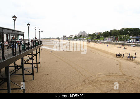 Cleethorpes Pier, Cleethorpes, Lincolnshire, England - Stock Photo