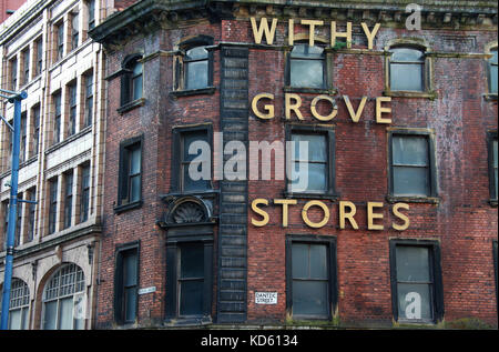 Withy Grove Stores in Manchester - Stock Photo