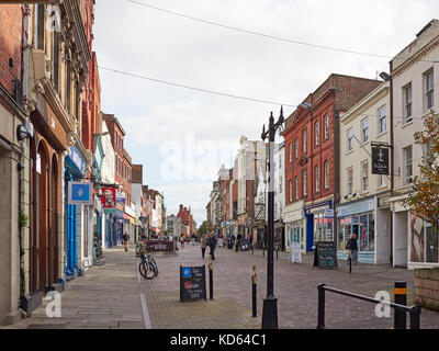 The City of Gloucester and pedestrianised  Westgate street - Stock Photo
