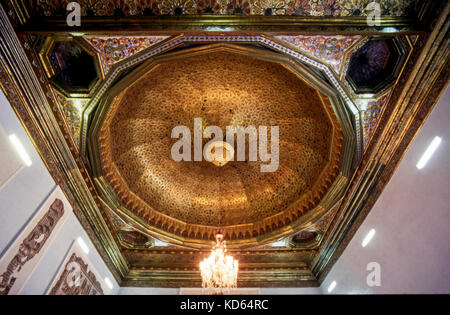 Ceiling of the Sousse Room in The Bardo Museum, Tunis, Tunisia - Stock Photo