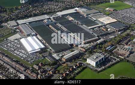 aerial view of Bentley Motors car plant at Crewe, Chehsire, UK - Stock Photo