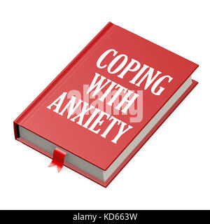 Book with an anxiety concept title title image with hi-res rendered artwork that could be used for any graphic design. - Stock Photo