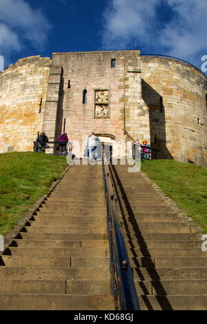 Clifford's Tower,Tower Street,York,North Yorkshire,England,UK. - Stock Photo