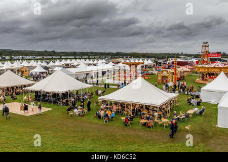 The 'Over The Road' section with displays and entertainment at the 2017 Goodwood Revival, Sussex, UK. - Stock Photo