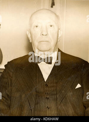 Richard Strauss aged 72 at the Savoy Hotel, London-1936, at the time of Dresden Opera Company's season at Covent - Stock Photo