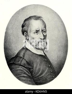 Giovanni Palestrina, portrait. Italian composer (1525-1594) - Stock Photo