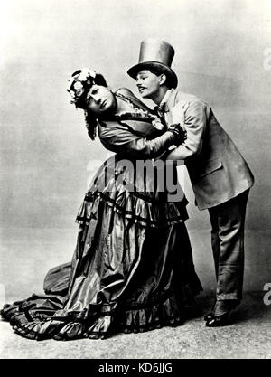 'La Boutique fantastique' ('The Fantastic Toyshop') Scene with the Russian merchant's wife and the Snob, from original - Stock Photo