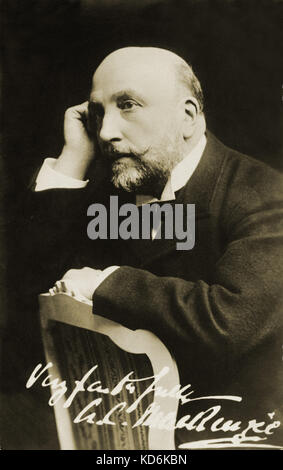 Sir Alexander Campbell Mackenzie, British composer and educator, 1847-1935.  Signed, autographed. - Stock Photo