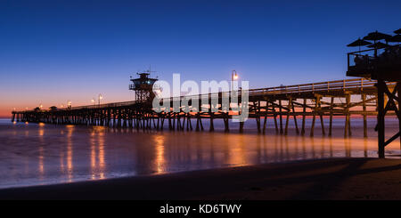 San Clemente, California Pier at sunset - Stock Photo