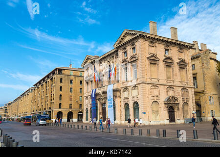 The 17th century neoclassical Marseille City Hall (Hôtel de Ville), Marseille, France - Stock Photo