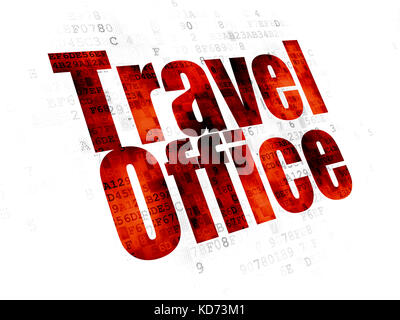 Tourism concept: Travel Office on Digital background - Stock Photo