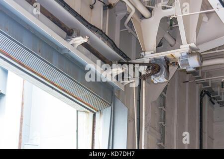 Roller shutter door  for industrial background. - Stock Photo