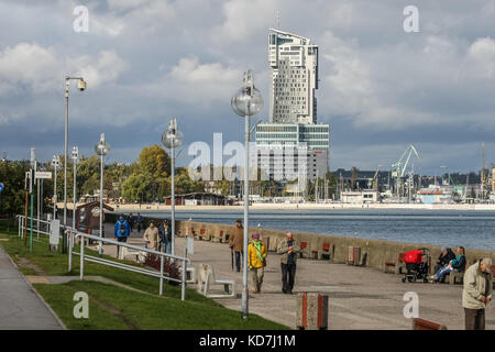 Gdynia, Poland. 10th Oct, 2017. CCTV camera on the Seafront Boulevard (Bulwar Nadmorski) is seen in Gdynia, Poland, - Stock Photo
