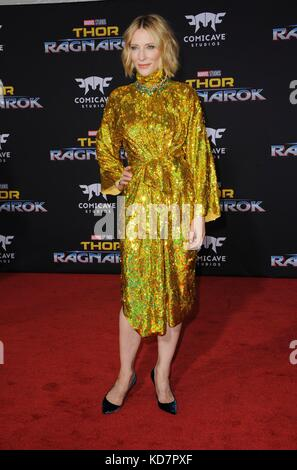 Los Angeles, CA, USA. 10th Oct, 2017.  Cate Blanchett at arrivals for THOR: RAGNAROK Premiere, El Capitan Theatre, - Stock Photo